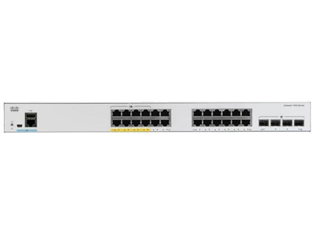 CISCO Catalyst 1000 C1000-24FP-4G-L Switch 24 x 10/100/1000 Ethernet PoE+  ports and 370W PoE budget, 4 x 1G SFP uplinks - Newegg.com