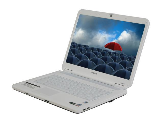 SONY Laptop VAIO NS Series VGN-NS140E/W Intel Core 2 Duo T5800 (2 00 GHz) 3  GB Memory 250 GB HDD Intel GMA 4500MHD 15 4