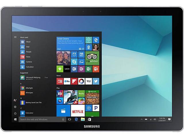 "SAMSUNG Galaxy Book SM-W723QZKCXAR Intel Core i5 7th Gen 7200U (2.50 GHz) 8 GB LPDDR3 Memory 256 GB NVMe SSD Intel HD Graphics 620 12"" Touchscreen 2160 x 1440 Detachable 2-in-1 Laptop Windows 10 Pro 64-Bit"