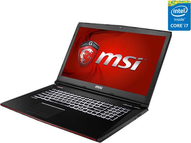MSI GE Series GE72 Apache-264 Gaming Laptop 4th Generation Intel Core i7  4720HQ (2 60 GHz) 12 GB Memory 1 TB HDD NVIDIA GeForce GTX 960M 2 GB GDDR5