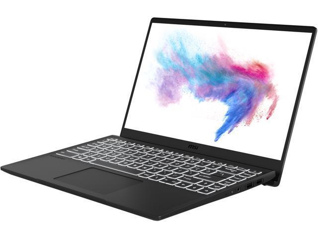"MSI Bilingual Laptop Modern 14 B4MW-013CA AMD Ryzen 7 3rd Gen 4700U (2.00 GHz) 8 GB Memory 512 GB NVMe SSD AMD Radeon Graphics 14.0"" Windows 10 Pro 64-bit"