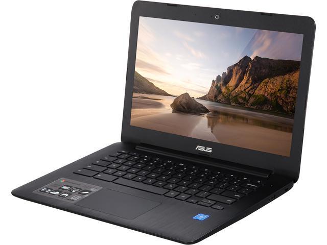 """Black ASUS Chromebook C300SA-DH02 13.3/"""" 16GB Celeron N3060 Dual-Core 1.60GHz"""