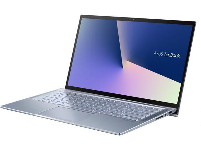 "ASUS ZenBook 14 Ultra Thin and Light Laptop, 4-Way NanoEdge 14"" FHD, Intel Core i7-10510U, 8 GB RAM, 512 GB PCIe SSD, NVIDIA GeForce MX250, Windows 10 Home, Utopia Blue, UX431FL-EH74 - Newegg.com"