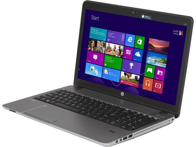 HP Laptop ProBook 455 G1 (F2P93UT#ABA) AMD A6-Series A6-5350M (2 90 GHz) 4  GB Memory 500 GB HDD AMD Radeon HD 8450G 15 6