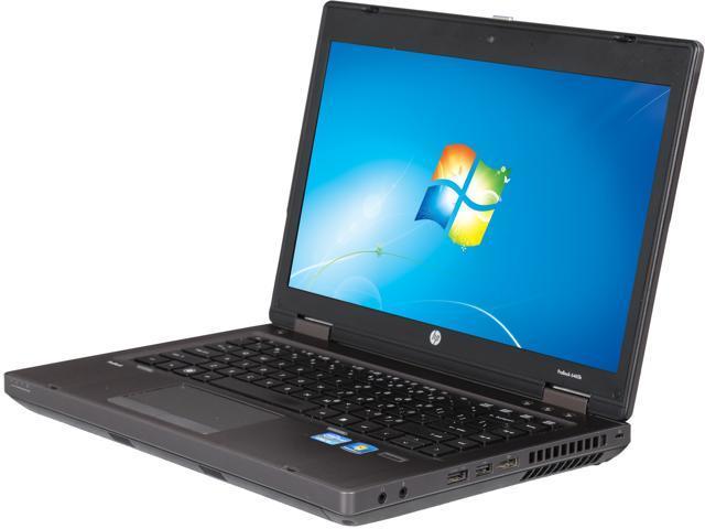 """Refurbished: HP ProBook 6460b 14"""" Notebook - Intel Core I5-2520m 2 5GHz,  4GB RAM, 160GB HDD, DVDROM, Windows 7 Professional 64 Bit - Newegg com"""
