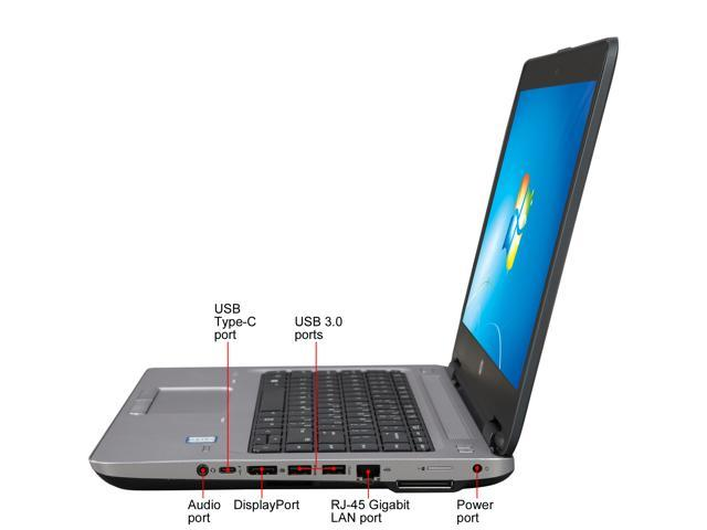 HP Laptop ProBook 640 G2 (V1P72UT#ABA) Intel Core i5 6th Gen 6200U (2 30  GHz) 4 GB Memory 500 GB HDD Intel HD Graphics 520 14 0