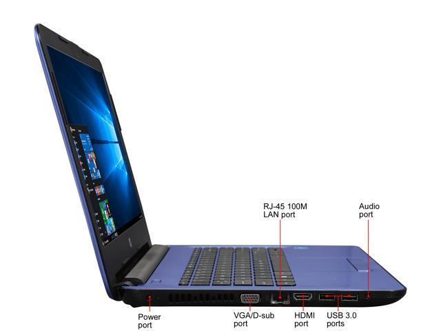 Refurbished: HP Laptop 14-ac151nr Intel Celeron N3050 (1 60 GHz) 2 GB  Memory 32 GB eMMC Intel HD Graphics 14 0