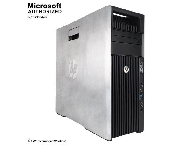 Refurbished: Certified Refurbished HP Z620 Workstation Tower Intel Xeon E5  2609 2 40 GHz / 16 GB DDR3 / Brand New 120GB SSD + 3TB HDD / 1GB Video