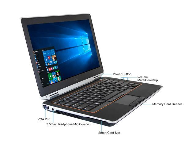 Refurbished: DELL Laptop Latitude E6320 Intel Core i5 2nd Gen 2410M (2 30  GHz) 12 GB Memory 500 GB HDD 13 3