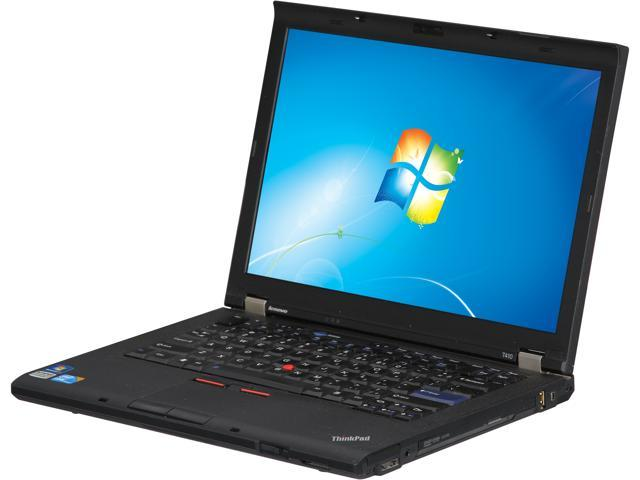 Refurbished: ThinkPad Laptop T Series T410 Intel Core i5 1st Gen 520M (2 40  GHz) 4 GB Memory 320 GB HDD Intel HD Graphics 14 0