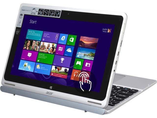 Refurbished: Acer Aspire Switch 10 SW5-011-18R3 Notebook Intel Atom Z3745  1 33GHz 10 1