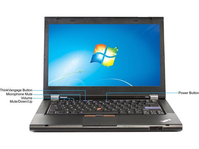 Refurbished: Lenovo C Grade Laptop T420 Intel Core i3 2nd Gen 2310M (2 10  GHz) 4 GB Memory 250 GB HDD 14 0