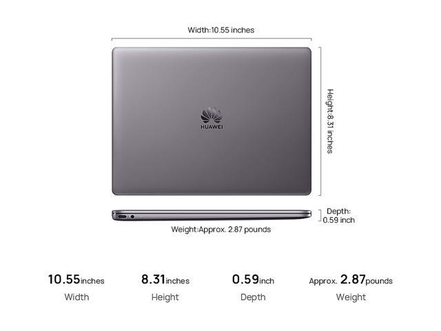 Huawei Laptop MateBook 13 Intel Core i7 8th Gen 8565U (1 80 GHz) 8 GB  Memory 512 GB SSD NVIDIA GeForce MX150 13 0