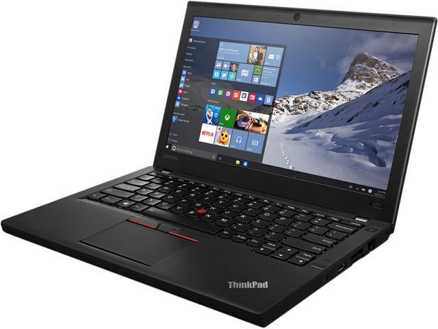 "Lenovo Laptop ThinkPad X260 (20F6006LUS) Intel Core i7 6th Gen 6600U (2.60 GHz) 16 GB Memory 256 GB SSD Intel HD Graphics 520 12.5"" Windows 7 Professional 64-Bit / Windows 10 Pro Downgrade"