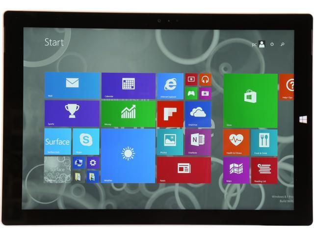 Refurbished: Microsoft Surface Pro 3 with Intel Core i5-4300U 1 9 GHz (2 9  GHz Turbo), 12