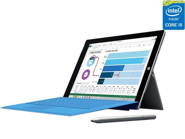 0b416619283 Microsoft Surface Pro 3 Intel Core i5 CPU 4 GB RAM 128 GB Storage 12.0