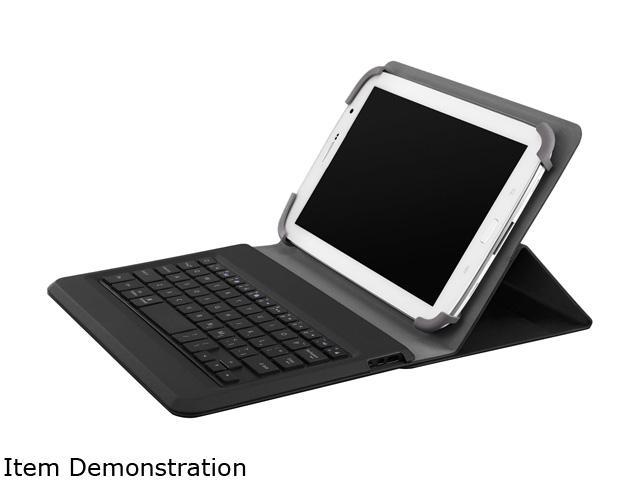 a8948ddbeab Belkin QODE Universal Keyboard and Case for 10-Inch Tablets F5L154ttBLK,  Black - Newegg.com