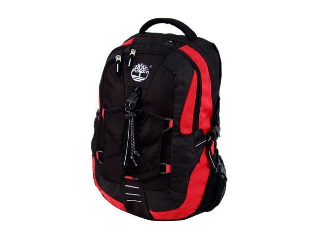 0e32cd99ab Timberland Black/Red High Alpine Large Laptop Backpack with Bike Helmet  Utility Pocket Model 41327