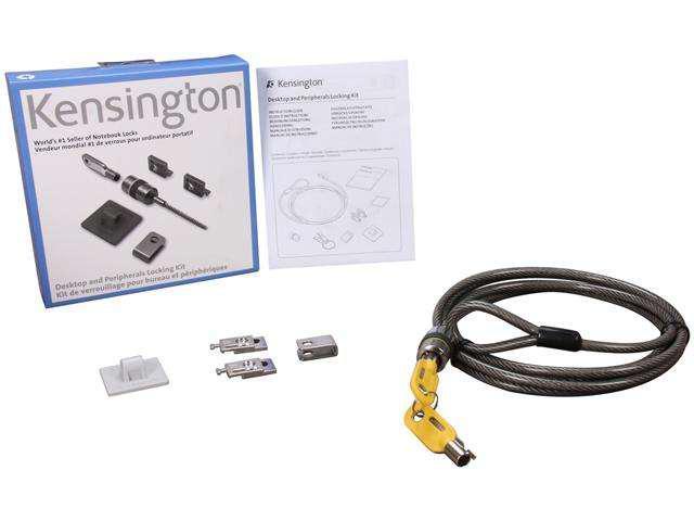 KENSINGTON K64615US Desktop and Peripherals Locking Kit New other
