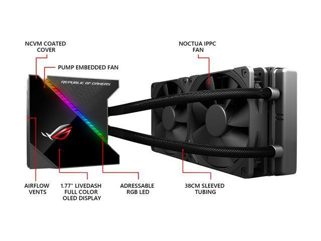 ASUS ROG Ryujin 240 RGB AIO Liquid CPU Cooler 240mm Radiator (Dual Wells F Fryer Wiring Diagram on