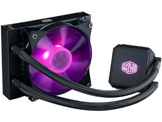 Cooler Master MasterLiquid LC120E RGB AIO CPU Liquid Cooler, Sleeved FEP  Tubing, 120mm Air Balance fans , RGB Software compatible, Dual Dissipation