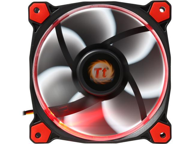 Thermaltake Riing 12 LED Red - 1 x 120 mm - 1500 rpm - 1 x 40 6 CFM - 24 6  dB(A) Noise - Hydraulic Bearing - 3-pin - Red LED - Rubber - 4 6 Year Life