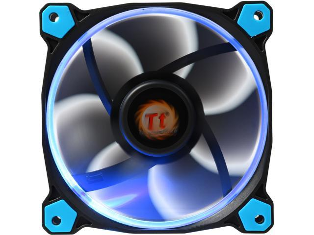 Thermaltake Riing 12 LED Blue CL-F038-PL12BU-A Blue LED Case Fan -  Newegg com