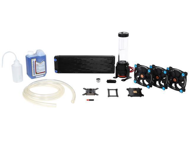 Thermaltake Pacific R360 D5 Soft Tube LCS Kit Riing 12 Wasserk/ühlungsset blau