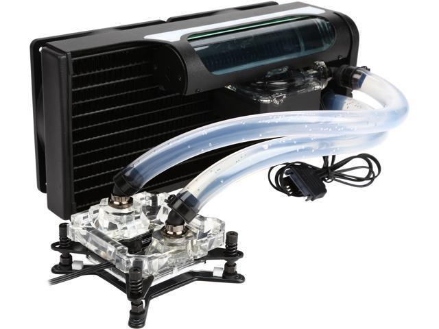 Open Box Swiftech H220 X2 2x120 Mm Drive X2 Aio Cpu Cooler Newegg Com