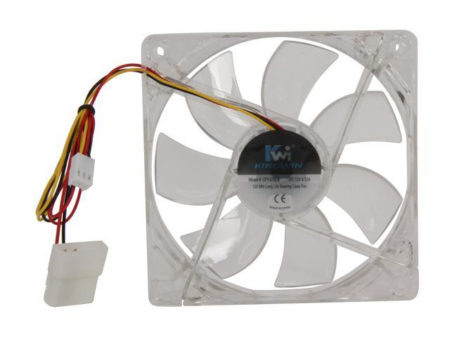 Kingwin CFY-012LB 120mm Yellow LED Case Fan 3//4 PIN