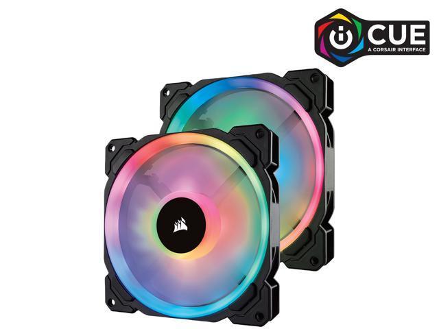 Corsair LL Series LL140 RGB 140mm Dual Light Loop RGB LED PWM Fan Single Pack No Controller