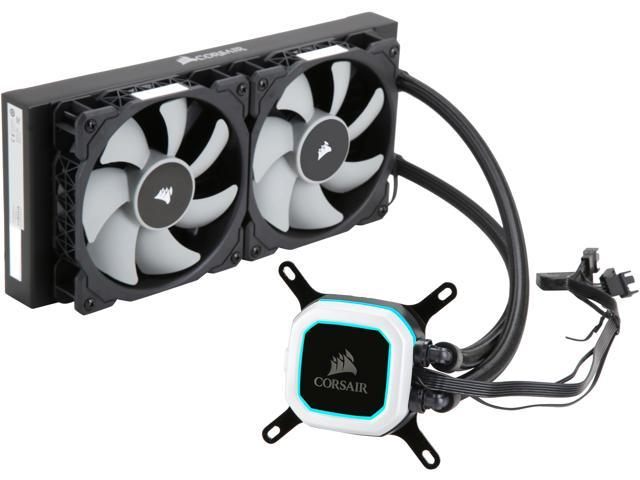 Corsair Hydro Series H100i PRO Low Noise 240mm RGB Water/Liquid CPU Cooler   240mm (CW-9060033-WW)  Support: Intel 2066, AMD AM4, TR4  - Newegg com
