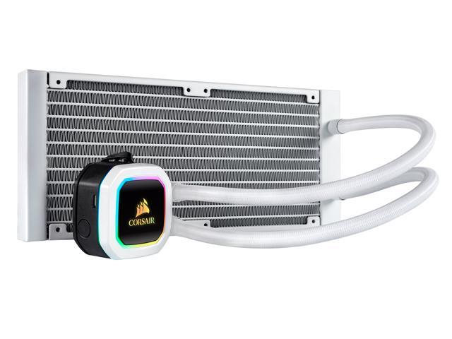 Corsair Hydro Series, H100i RGB PLATINUM SE, 240mm Radiator, Dual LL120 RGB  PWM Fans, Advanced RGB Lighting and Fan Control with Software, Liquid CPU