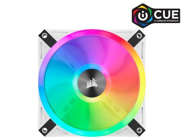 CORSAIR QL Series, iCUE QL120 RGB, 120mm RGB LED PWM White Fan, Triple Fan Kit with Lighting Node CORE - CO-9050104-WW
