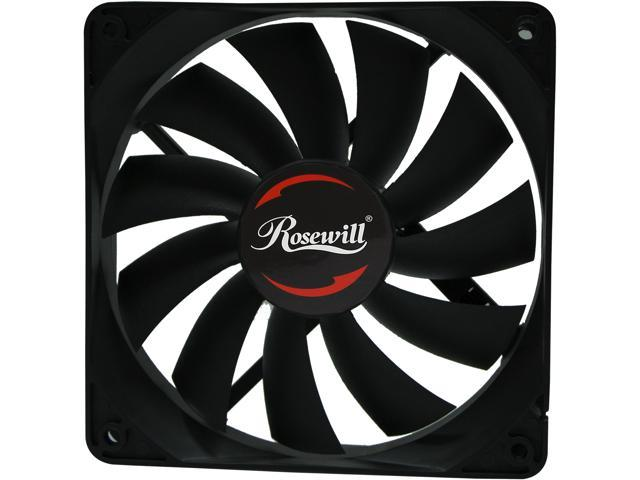 Rosewill RAWP-141209v2 - 120mm Computer Case Cooling Fan - Seal IP56 Dust Resistant, Splash Proof with Pulse Width Modulation (PWM) Speed Control & High End Teflon Nano Bearing