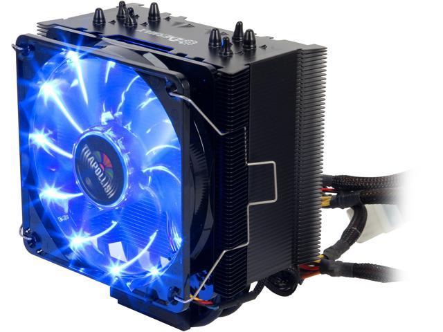 e2531edd66e Enermax ETS-T40-BK Black 120mm Twister CPU Cooler with TB Apollish Blue LED  PWM Fan