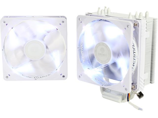 ENERMAX ETS-T40F-W 120mm Twister Aluminum 120mm White CPU Cooler with Dual  White LED PWM Fans - Newegg com
