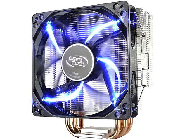 DEEPCOOL GAMMAXX 400 CPU Air Cooler 4 Direct Contact Heatpipes, 120mm PWM  Fan with Blue LED, Multi-platform Intel/AMD CPUs (AM4 Compatible) -