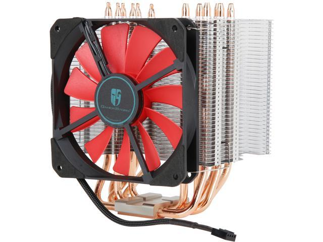 DEEPCOOL Gamer Storm Lucifer K2-CPU Cooler 120X120X20mm Slim PWM Fan  Twin-tower Pure Copper Base Fanless Option Metal Mounting Kit Support  LGA2066 /