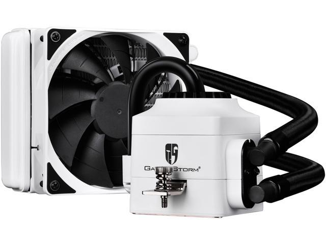 DEEPCOOL Gamer Storm CAPTAIN 120EX WHITE-AIO CPU Liquid Cooler 120mm Ceramic Bearing Pump Visual Liquid Flow Metal Mounting Kit AM4 Compatible