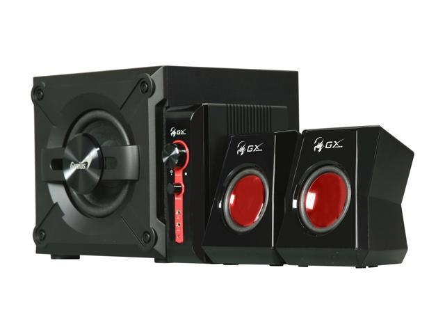 Genius SW-G2.1 1250 2.1 Channel Speaker System With Wooden Cabinet Subwoofer ...