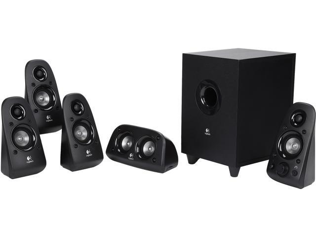 Refurbished: Logitech Recertified 980-000430 Z506 75 Watts RMS 5 1 Surround  Sound Speakers (Scratch and Dent) - Newegg com