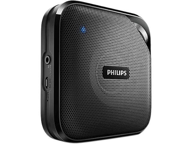 Black NEW Philips BT3080B//37 Wireless Bluetooth Music Streaming Speaker