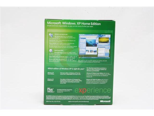 Microsoft Windows XP Home Edition with Service Pack 2 - Newegg com