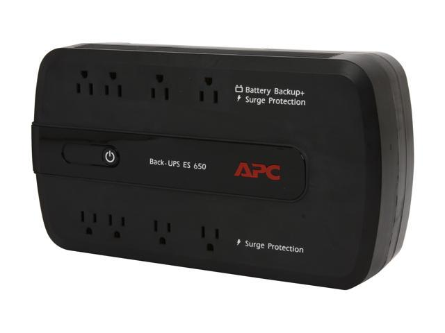 APC BE650G 650 VA 390 Watts 8 Outlets UPS (Replaced by BE650G1) - Newegg com