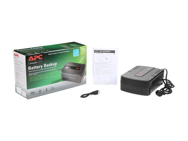 APC Back-UPS 650VA Uninterruptible Power Supply Battery Backup Surge 8-Outlets