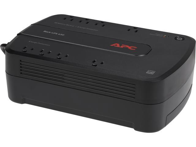 APC BE650G1 Back-UPS 650 VA 8-outlet Uninterruptible Power Supply (UPS)  (Replaces BE650G) - Newegg com