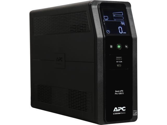 APC BR1350MS 1350 VA Pure SineWave 10 Outlets 2 USB Charging Ports Back-UPS  Pro Battery Backup - Newegg com