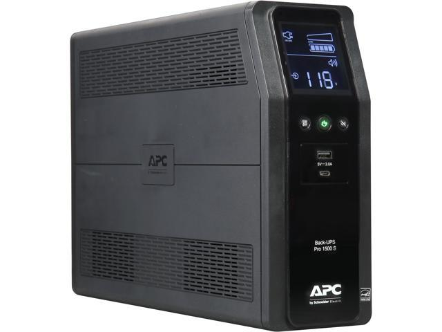 APC BR1500MS 1500 VA Pure SineWave 10 Outlets 2 USB Charging Ports Back-UPS  Pro Battery Backup, Replaces BR1500G - Newegg com
