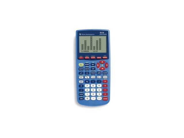 Texas Instruments TI-73 Explorer Graphing Calculator Teacher Pack - TI73/TP  (10/Pack) - Newegg com